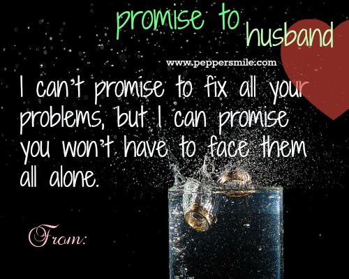 Promise To Husband