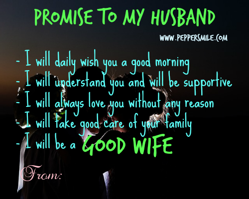 promise to my husband