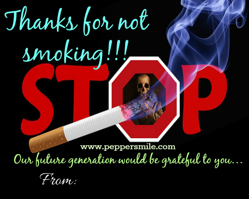 Thanks for not smoking
