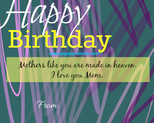 happy birthday message for mother