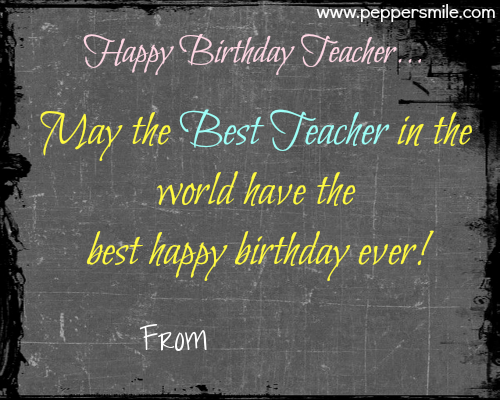 happy birthday to teacher